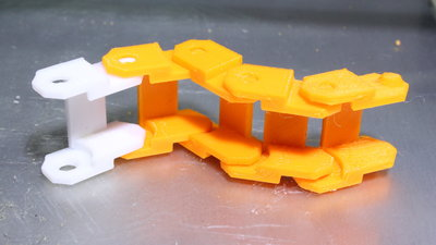 Direct granules extruder, sample print track