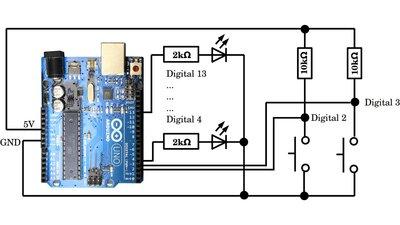 arduino uno digitale pins - Arduino Beispiele