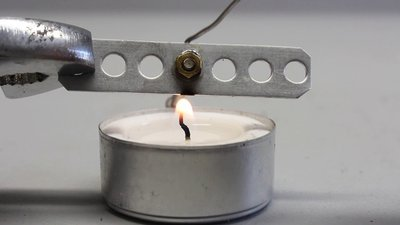 CNC machine V0.5, soldering with a candle