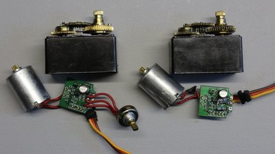 Servos for continuous rotation