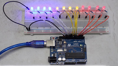 Microcontroller starter kit LEDs