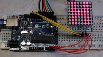 Microcontroller starter kit LED matrix
