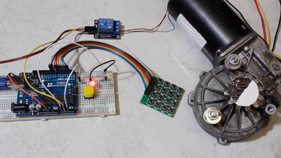 Microcontroller starter kit relay and push button matrix