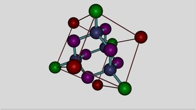 Face-centered cubic crystal structure